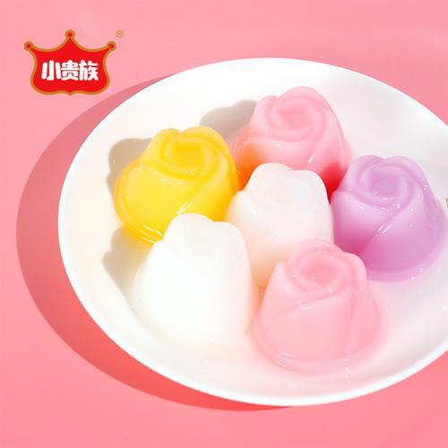 小贵族休闲儿童夏季零食散装布甸蜜桃乳酸菌美味果冻酸奶布丁整箱