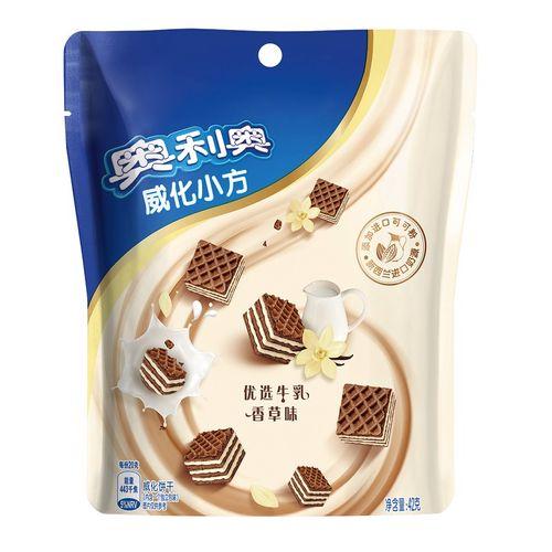奥利奥威化小方优选牛乳香草味42克