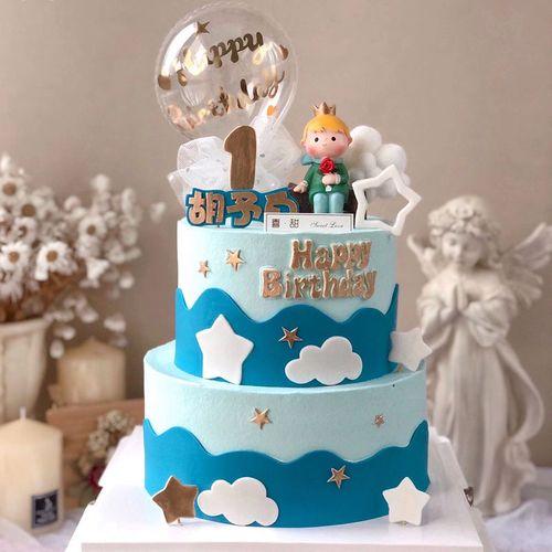 蛋糕烘焙装饰小王子摆件甜品台装饰娃娃儿童摆件男孩