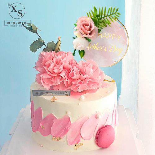 母亲节蛋糕装饰插件妈妈康乃馨香皂花烘焙生日快乐网
