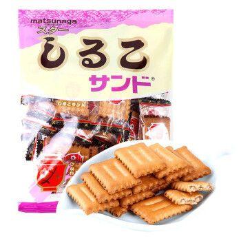 日本进口松永手指饼干北海道多层夹心饼干曲奇酥脆香甜 红豆味105g
