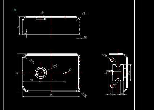 锁壳冷冲压模具设计2d图机械cad素材