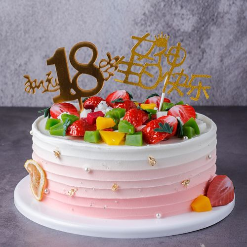 女神永远18岁水果蛋糕模型仿真2020新款网红塑胶假