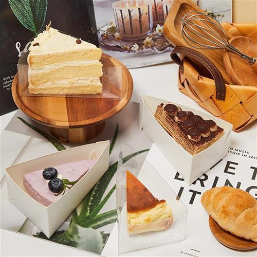 法式甜品盒三角形蛋糕包装盒马芬杯千层慕斯蛋糕蛋糕