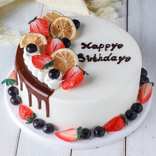 新品糕点橱窗展示水果蛋糕仿真模型甜品台流行创意原创设计可定制