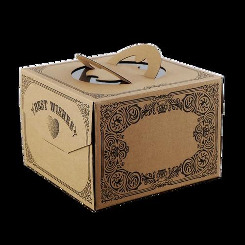 手提生日蛋糕盒子6寸8寸10寸牛皮纸手提加厚瓦楞蛋糕包装盒印刷