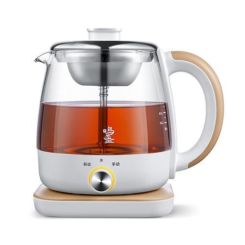鸣盏 煮茶器 煮茶壶 养生壶 玻璃养身壶蒸汽喷淋式白黑茶花茶 小型
