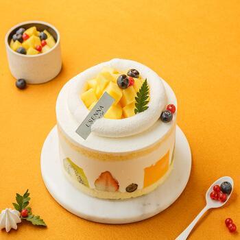 罗森尼娜|香芒雪堡-新鲜水果 动物奶油戚风蛋糕 长沙生日蛋糕预订 8