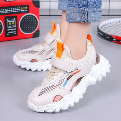 佐罗骑士女童运动凉鞋2021夏季新款中大童女孩透气网鞋男童凉鞋软底