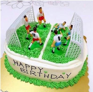 足球摆件套装 足球蛋糕装饰 男生蛋糕 球队队员集体场景蛋糕 蛋糕
