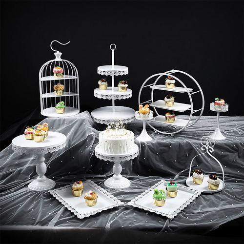 欧式甜品台摆件展示架蛋糕托盘婚礼摆台装饰套装创意