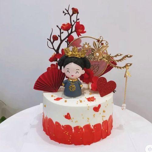 祝寿礼物蛋糕中国风宫廷风复古皇后娘娘妈妈母后大人女神生日蛋糕