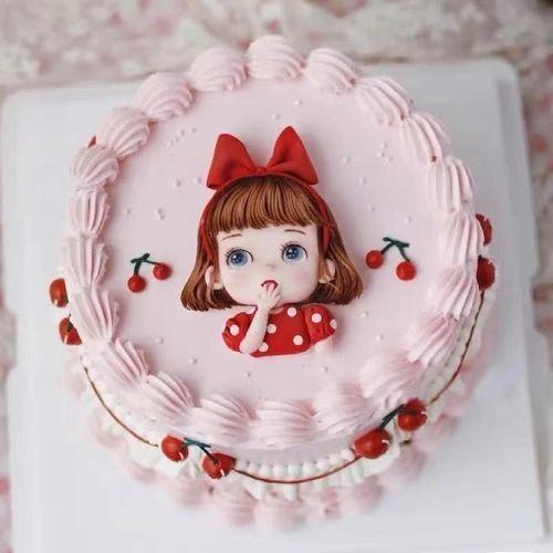 巧克力转印纸图卡通可爱蝴蝶结女孩生日节日蛋糕烘焙