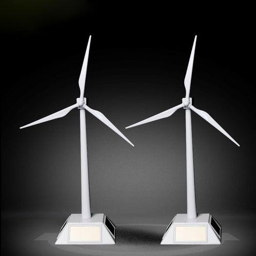 太阳能风车风力发电模型环保科技学实验拼装玩具旋转