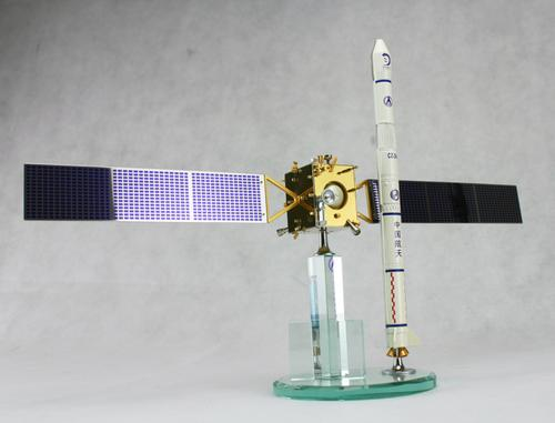 中国探月 嫦娥1号卫星 长征3号甲火箭 模型组合 包快递