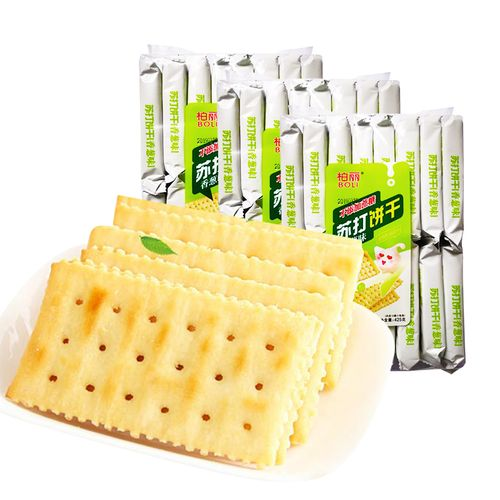 柏丽苏打饼干425g*3包香葱奶盐梳打饼早餐零食小吃