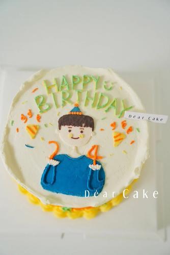 【0392】《小男孩画图蛋糕》非常有意义的一款,年年岁
