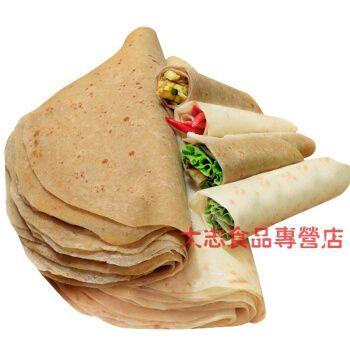速食山东大饼手工全麦卷饼皮健身面包早餐面饼单饼烙饼薄饼皮 2斤全麦