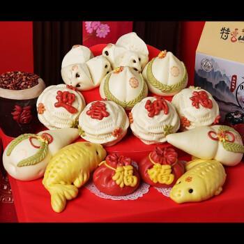 饽饽寿桃馒头生日老人礼盒祝寿礼品传统糕点面点心贺寿中式蛋糕福禄寿