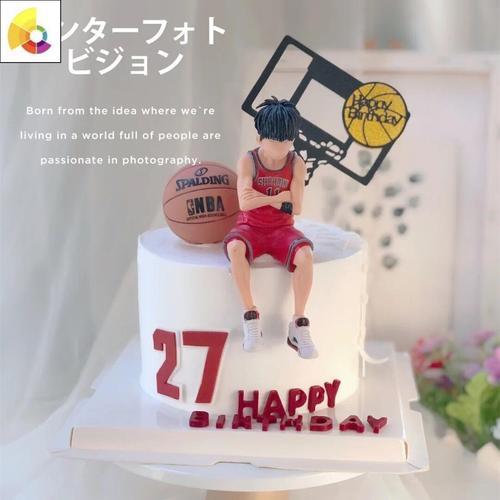 烘焙生日蛋糕装饰灌篮高手篮球队篮球小子摆件流川枫