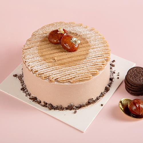 皇家美孚生日蛋糕法式栗子青岛地区同城配送
