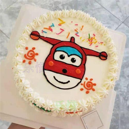 乐惜网红超级飞侠生日蛋糕同城儿童男孩女孩小爱乐迪蛋糕上海广州