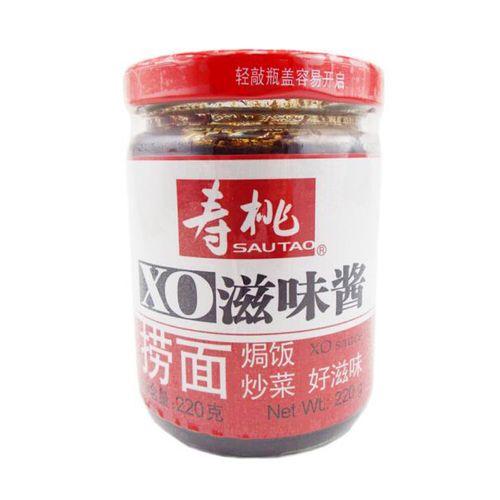 寿桃牌 瓶装黑椒酱 牛肉粒酱 xo滋味酱220g多种口味可