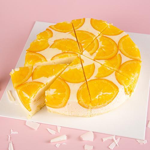 青岛配送蛋糕皇家美孚香橙慕斯网红好吃蛋糕免费送货