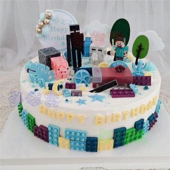 我的世界生日蛋糕迷你世界方块格子儿童全国上海广州深圳杭州重庆