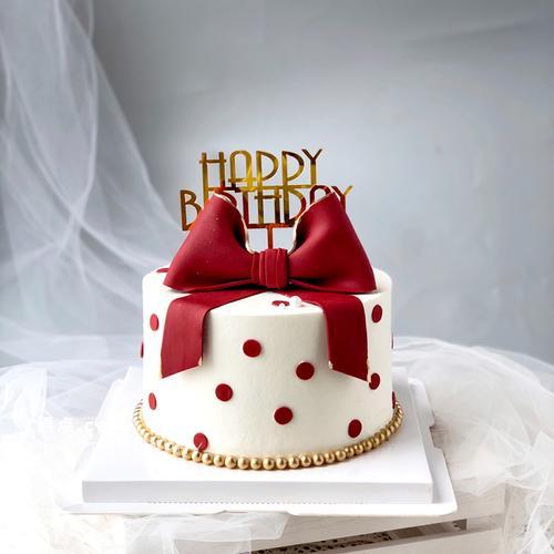 立体eva泡沫蝴蝶结蛋糕装饰少女心简约小清新生日派对