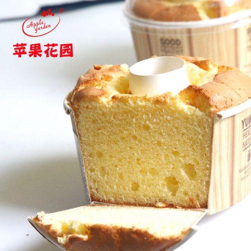苹果花园乳酪舒芙蕾蛋糕120g新鲜现烤乳酪戚风蛋糕无水糕点点心