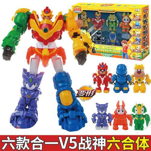 星原小宝2全套变形合体机器人金刚神勇v5队星宝战士疾风鹰捷影猫