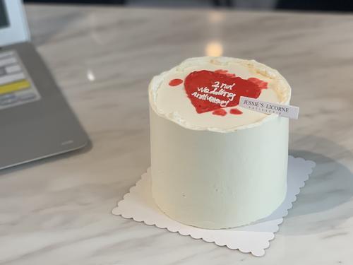ins风简约款奶油蛋糕小四寸