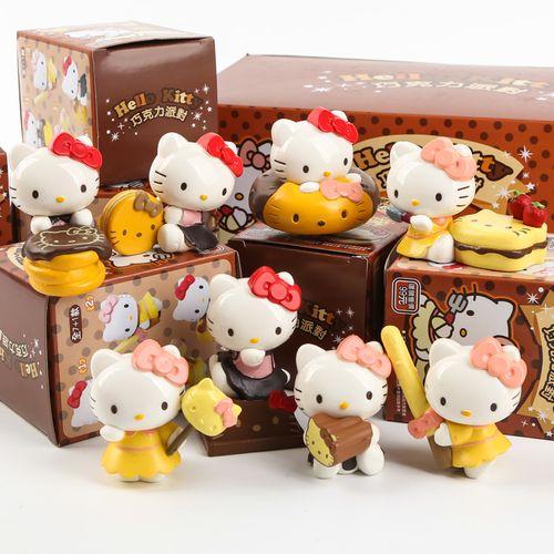 hello kitty 凯蒂猫公仔巧克力派对 摆设盲盒甜点蛋糕