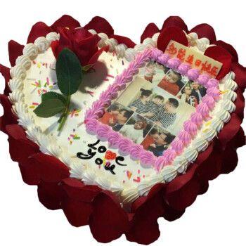 定制创意数码照片生日蛋糕同城配送男士女士儿童上海广州深圳杭州