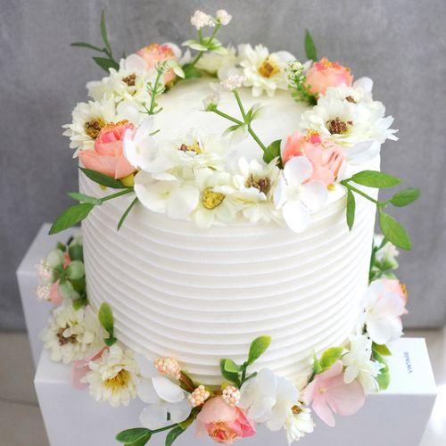 仿真鲜花蛋糕模型假花蛋糕玩具拍摄道具橱窗摆件生日礼物 可定制