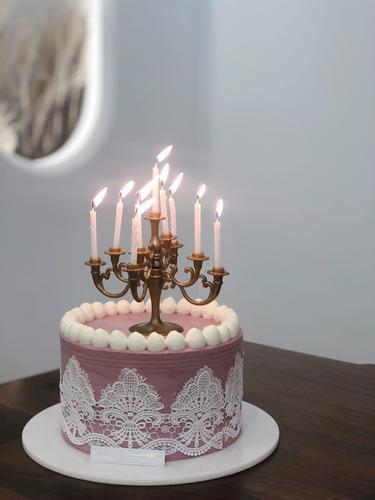 【欧式复古烛台】造型奶油蛋糕