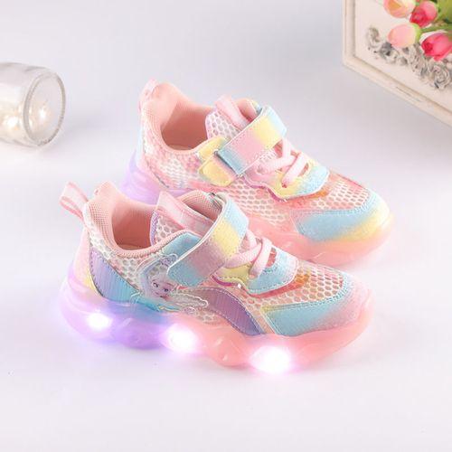 佐罗骑士2021春秋新款女童运动鞋网面透气小女孩公主鞋夏季镂空单网鞋