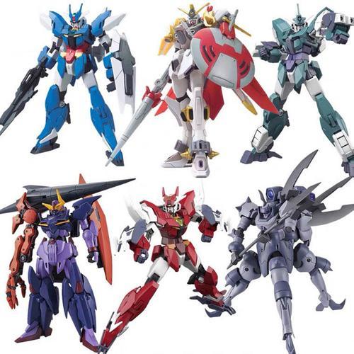 高达模型hg拼装玩具强袭自由00r七剑独角兽大班国产