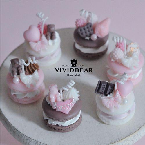 马卡龙香薰少女浪漫朋友生日礼物节礼品客厅甜品蛋糕小蜡烛