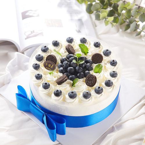 网红ins新鲜蓝莓动物奶油生日蛋糕好吃不腻上海苏州