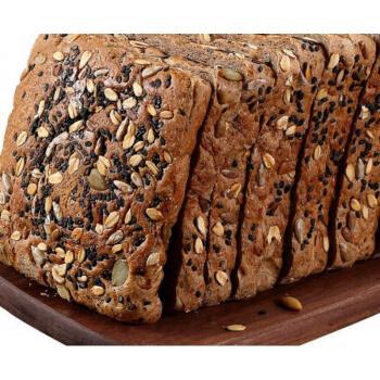 粗粮黑麦面包早餐吐司全麦面包片饱腹食品代餐一整箱 4斤【约60袋/120