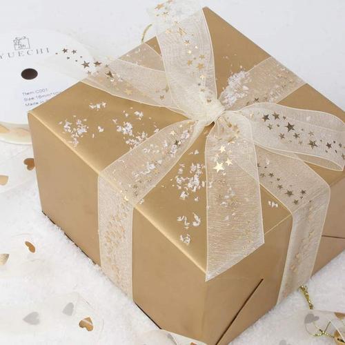 礼物包装纸带蝴蝶丝带日系礼盒小清新礼品盒蛋糕盒装饰带烘焙礼品
