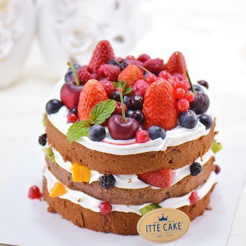 【莓果巧克力】淡奶油  巧克力 新鲜水果蛋糕