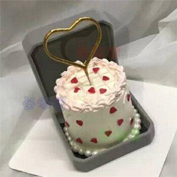 网红戒指盒生日蛋糕同城七夕节求婚表白迷你小蛋糕全国上海