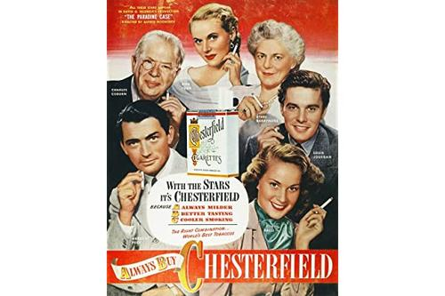 chesterfield 香烟广告 nthe stars of the 1948 电影《天堂》文具