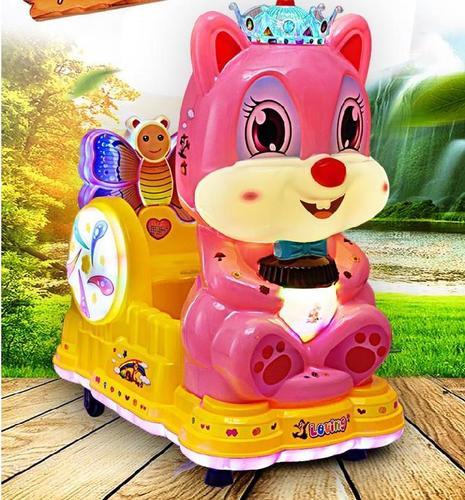 小孩新款音乐摇摆机摇摆车带娃玩摆摊用动画屏闪灯款