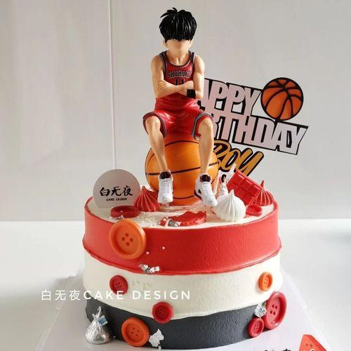 篮球球员蛋糕装饰摆件灌篮男孩生日蛋糕主题配件篮球