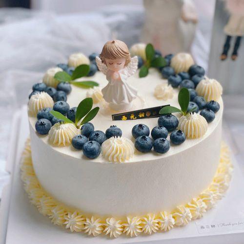 中国新款欧式水果奶油生日仿真蛋糕模型2021流行塑胶