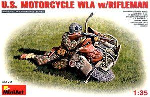 miniart 35179 二战美国陆军 哈利.戴维森 wla摩托车